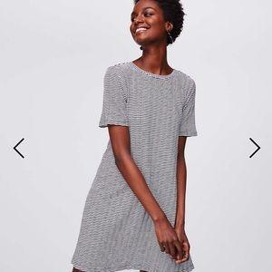 LOFT bow back short sleeve swing dress NWT MP
